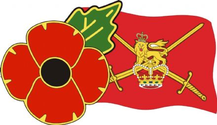 Poppy Car Window Sticker With Army Flag